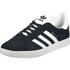 adidas Originals Gazelle J Collegiate Navy Suede Youth Trainers Shoes