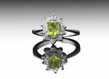 925 Sterling Silver with Green Peridot Oval Cut Natural Gemstone Handmade ebay.