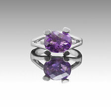 925 Sterling Silver Ring with Natural Oval Amethyst Gemstone Handcrafted eBay.