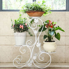 3 TIER Floor-Standing Wrought Iron Pot Plant Stand Flower Pot Fashion S-Design