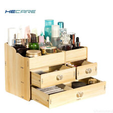 DIY Desk Wood Cosmetics Organizer Multi-Layer Storage Box Bedroom for Girl Gift