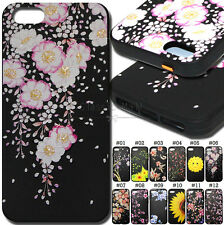 For Apple iPhone 5/5S/SE Soft TPU Case Gel Embossed Fashion Rubber Skin Cover