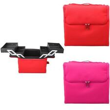 Professional Travel Cosmetic Makeup Train Bag Large Nail Jewelry Case Organizer