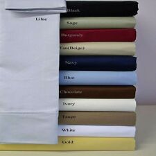 """""""Fitted Sheet+2 Pillow Case"""" 1000tc Egyptian Cotton Solid/Stripe AU Single Size"""