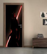 Darth Maul Star Wars DOOR WRAP Decal Wall Sticker Mural Personalized NAME D139
