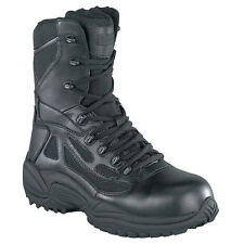 """Reebok RB8874 Rapid Response RB 8"""" Composite Toe Stealth Side Zip Boot"""
