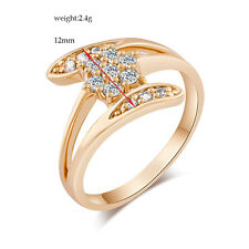Womens Wedding Engagement Fashion Jewelry Crystal Promise Ring Size 5/7/8/9