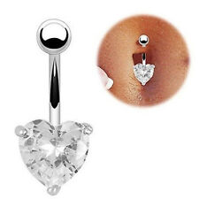 Navel Ring Belly Crystal Rhinestone Button Bar Heart Star Body Piercing Jewelry