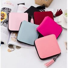 Women Leather Small Mini Wallet Lady Card Holder Zip Coin Purse Clutch Handbag