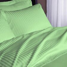 DUVET/FITTED/FLAT/PILLOW 1000 TC EGYPTIAN COTTON ALL SIZE SAGE STRIPED