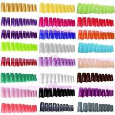 French 100 Pcs False Fake UV  Acrylic Artificial Nail Art Tips PINK,BLACK,CLEAR