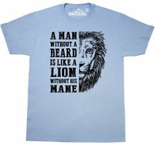 Inktastic A Man Without A Beard Is Like A Lion Without His Mane T-Shirt Men Gift