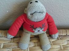 PG TIPS LIMITED EDITION MONKEY IN CHRISTMAS JUMPER SOFT TOY PART BEANIE - VGC
