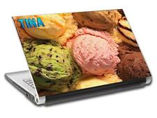 Ice Cream Personalized LAPTOP Skin Decal Vinyl Sticker ANY NAME Food L519