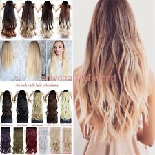 Women Ombre 3/4 Full Head Clip In Hair Extension Real Thick as human Extensions