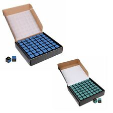 98 Pieces Blue/Green Pool/Snooker/Billiard Tables Cues Tips Chalks