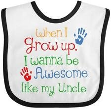 Inktastic Awesome Like My Uncle Baby Bib Nephew Niece Gift From Kids Cute Family