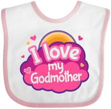 Inktastic I Love My Godmother Gift For Godchild Baby Bib From Cute Girls Childs