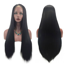 Fantastic Women Straight Hair Front Wig Full Lace Wig Cosplay Makeup Accessories