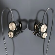 DZAT DT-05 Dual Dynamic Driver Stereo In Ear Earphones Noise Isolating Earbuds