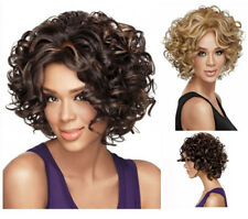 Women Ladies Heat Resistant Synthetic Short Curly Wigs Hair for Party Cosplay