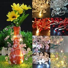 2PCS Colorful Crystal Pearly Bead LED String Light Lamp Garland Battery Operated