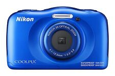 Nikon digital camera COOLPIX W100 waterproof W100BL coolpix blue NEW