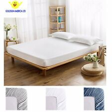 Fitted Sheet Brushed Microfiber Fits Deep Pocket Mattresses Full Elastic Around