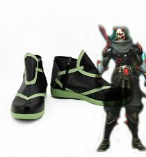 NEW Game Overwatch OW Genji Skin Oni Cosplay Boots Shoes Custom Made size
