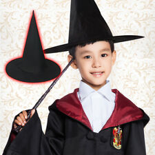 Adult Child Witch Hat Halloween Costume Accessory Tall Crooked Velvet Witch Hats