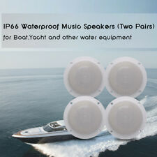 2Way Marine White Color Motorcycle Boat UTV RV Car SPA Room Waterproof Speakers