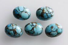 16x12MM Blue Copper Turquoise Oval Shape, Calibrated Cabochons AG-203