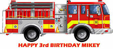 Firetruck Party Edible image Cake topper decoration