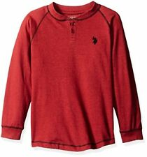 U.S. Polo Assn. Boys' Long Sleeve Henley Shirt - Choose SZ/Color