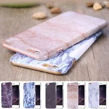 Glossy Marble Printed Stone Hard Case Cover Skin for Apple iPhone6&6s/Plus 5s SE