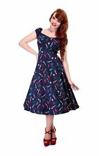 New 1950s Vintage Style Pin Up Doll Dolores Swing Dress Rockabilly Pin Up