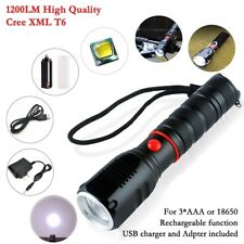 T6 LED Tactical Torch Rechargeable Zoomable Waterproof Flashlight Military Grade