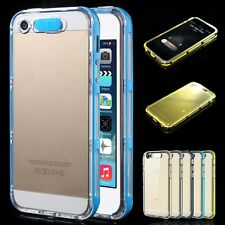 LED Flash Light Call Remind Clear Glossy Case Cover Skin for iPhone 6 6s Plus 5s