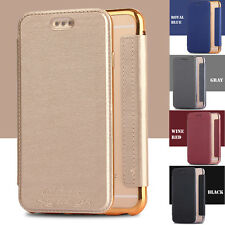 Flip PU Leather Card Slot Wallet Clear Silicone Case Cover for iPhone 6 6s/Plus+