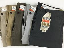 DOCKERS LEVI'S GENUINE D2 LIVED & WORN KHAKI CHINOS STRAIGHT LEG PANTS/TROUSERS