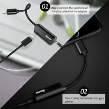 Baseus Lightning to 3.5mm Earphone Adapter Audio Headphone Cable for iPhone 7 +