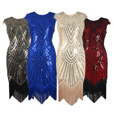1920's Flapper Dress Headband Sets Vintage Great Gatsby Party Costume Plus Size