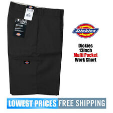 Dickies NWT Men's 13 Inch Loose Fit Black Walk Shorts W/ Cell Phone Pocket