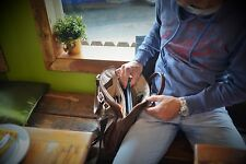 15 Inch Vegetable Tan Leather Satchel, Leather Laptop Bag, VT Leather Briefcase