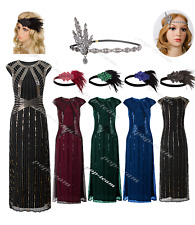 Women's 1920s Flapper Prom Dress Gatsby Wedding Party Gown Formal Evening Dress
