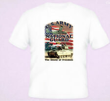 US Army National Guard Shield OF Freedom T-Shirt White S-5XL