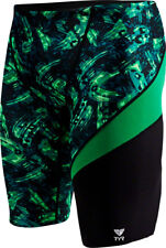 TYR Emulsion Wave Jammer Men's Swimsuit: Green 32