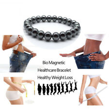 Bio-Magnetic Weight Loss Round Black Stone Bracelet Health Care Therapy Bracelet