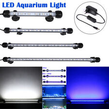 EU Plug 18-48CM Aquarium Fish LED Light Bar Day Moon Light Submersible Clip Lamp
