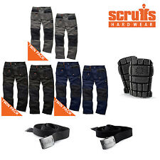 Scruffs WORKER PLUS Work Trousers TWIN PACKS with Knee Pads & Clip Belt Options
